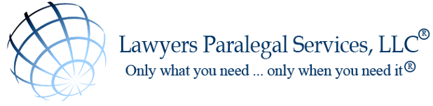 Business logo, lawyers Paralegal Services, LLC
